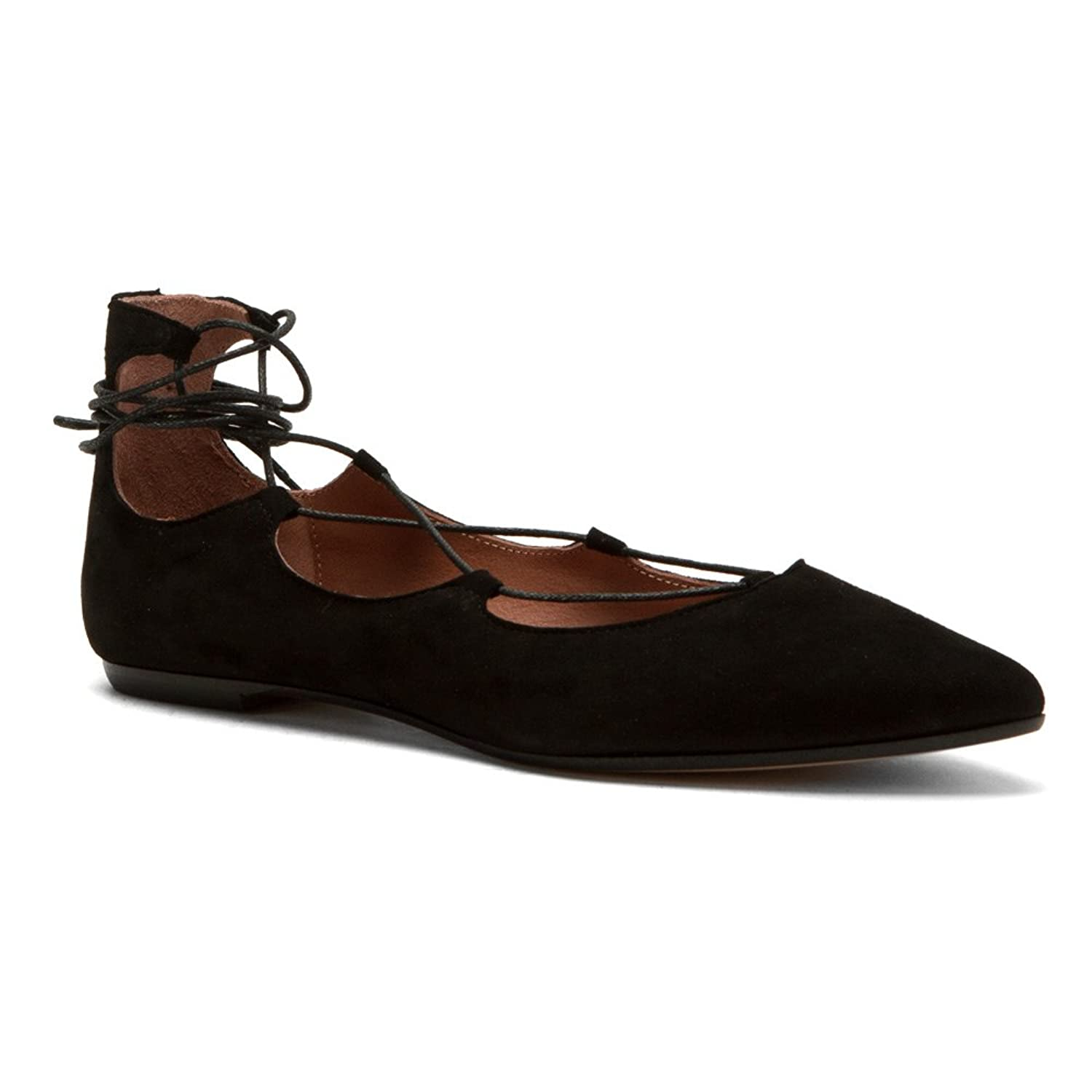 Summit by White Mountain Women's Karena Black Suede Flat 40 M