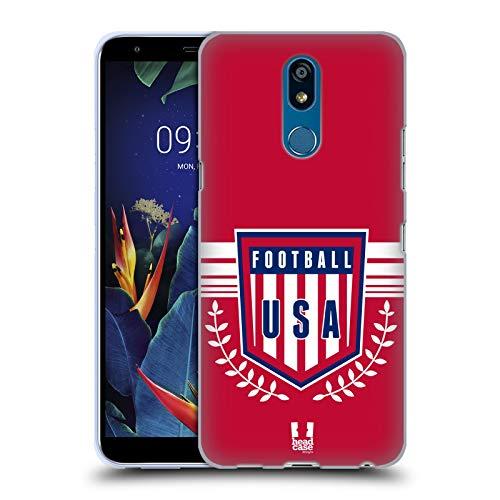 (Head Case Designs USA Football Crest Soft Gel Case Compatible for LG K40 / K12 Plus)
