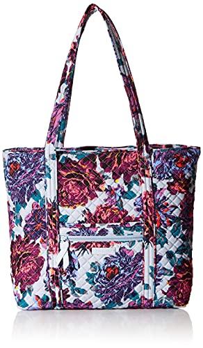 Vera Bradley Signature Cotton Vera Tote Bag, Neon Blooms