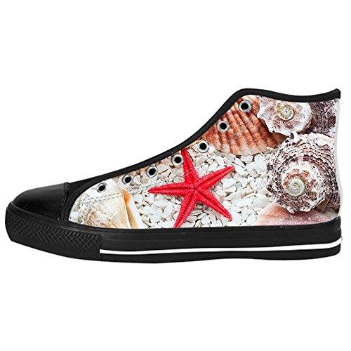Custom Spiaggia delle stelle marine Womens Canvas shoes I lacci delle scarpe scarpe scarpe da ginnastica Alto tetto