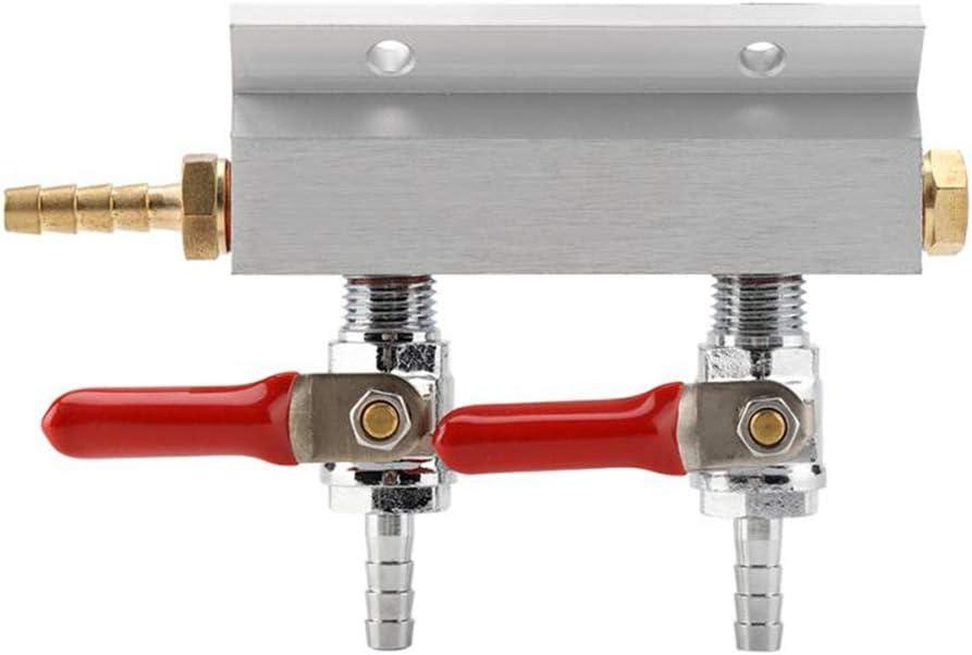 NTT Distribuidor de Co2 de distribución de Gas, válvulas de retención integradas para Cerveza, con vástago/vástago de 5/16 Pulgadas, Durabilidad Ligera y Fina, Resistente a la corrosión