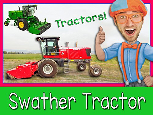 Cake Figurines Kids (Explore A Swather Tractor with Blippi - Tractors for)