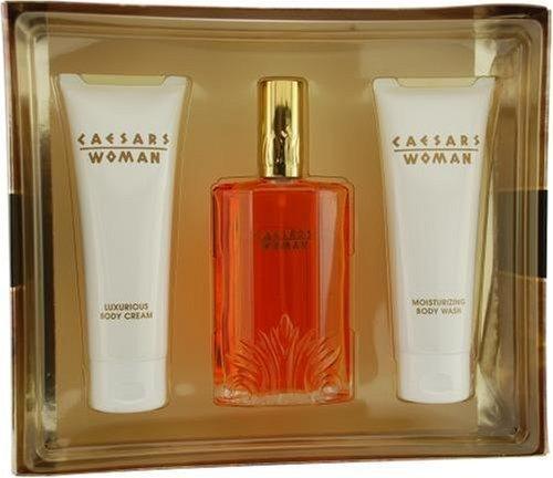 Caesars By Caesar's World For Women Cologne Spray 3.3 Oz & Body Cream 3.3 Oz & Body Wash 3.3 Oz by - Caesars Mall