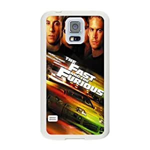 Generic Fashion Hard Back Case Cover Fit for Samsung Galaxy S5 Cell Phone Case white Fast Furious TUB-1566213