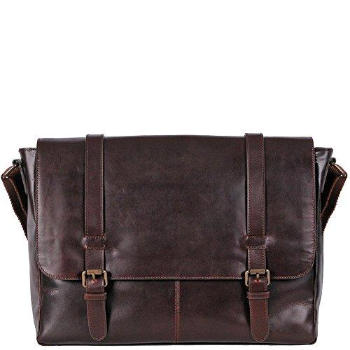 Wilsons Leather Mens Dakota Skinny Strap Leather Messenger Bag - Dakota Bag
