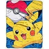 The Northwest Company Pokémon Go Pikachu Micro Raschel Blanket, 46 by 60-Inch