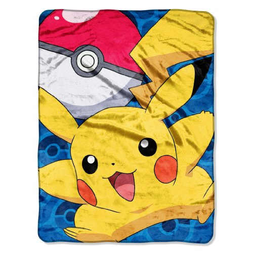The-Northwest-Company-Pokmon-Go-Pikachu-Micro-Raschel-Blanket-46-by-60-Inch