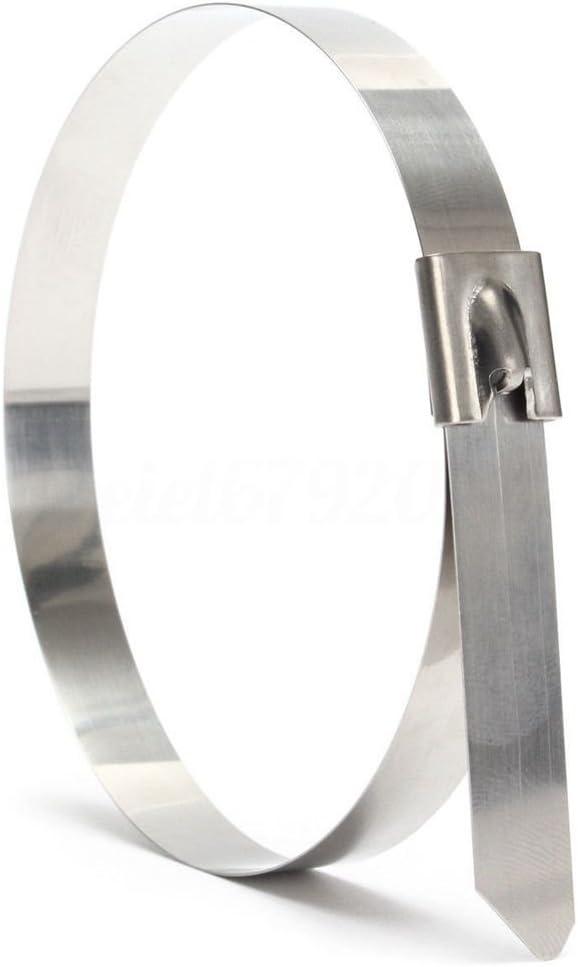 QUALITY STAINLESS STEEL CABLE TIES MARINE GRADE METAL ZIP TIE EXHAUST WRAP