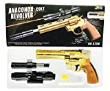 Babygo James Bond Golden Revolver Toy Gun With Extra 52 Normal Bullets With 150 Soft Non Harming Bullets And Laser Light