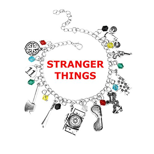 Athena Brand Stranger Things Charm Lobster Clasp Movie TV Themed Bracelet Gift Box Included