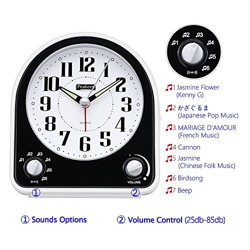 Travel alarm clock battery operated