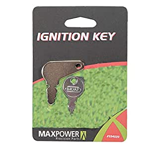 Maxpower 334020 Universal Riding Lawn Mower Ignition Keys With Key Chain