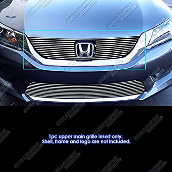Compatible with 2013-2015 Honda Accord Sedan Upper Main Upper Billet Grille Insert H65916A