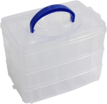 Hobbycraft Rainbow Craft Storage Box Home Transportation Organiser Case