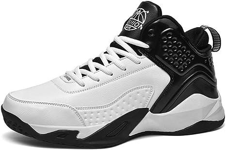 WFWPY Alto para Ayudar a los Zapatos Calzado de Baloncesto Calzado Deportivo Moda Correr Zapatillas Ligeros Transpirable Lace Up Zapatillas de Baloncesto,Blanco,US9.5/EU43: Amazon.es: Deportes y aire libre