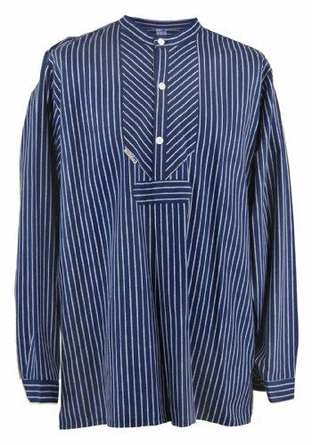 Fischerhemd Original breit gestreift, Damen 52 = Herren 58