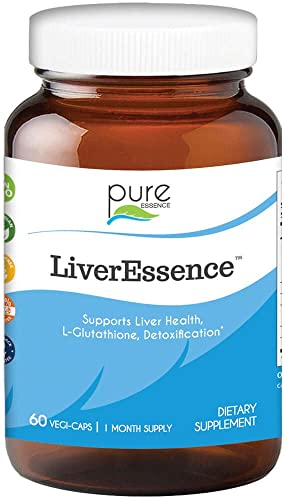 Pure Essence Labs LiverEssence – The World s Best Absorbed Milk Thistle Extract With Synergistic Liver Support Factors – 60 Vegetarian Capsules