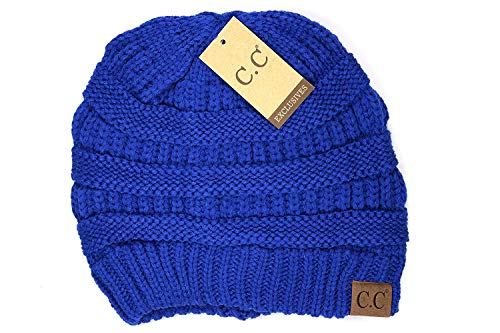 (Crane Clothing Co. Women's Classic CC Beanies One Size Royal Blue)