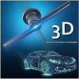 Conbo 3D Hologram Advertising Display LED Fan Holographic Imaging 3D Naked Eye LED Fan light 3d Display Advertising logo Light Decor (Black)