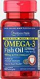 Puritan's Pride Omega-3 Fish Oil 1290 mg Mini Gels (900 mg Active Omega-3) Per Serving-60 Coated Softgels