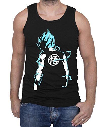 Super Saiyajin Camiseta de Tirantes para Hombre Goku Dragon Master Son Ball Vegeta Turtle Roshi Db, Farbe2:Schwarz/Blau;Größe2:S: Amazon.es: Ropa y ...
