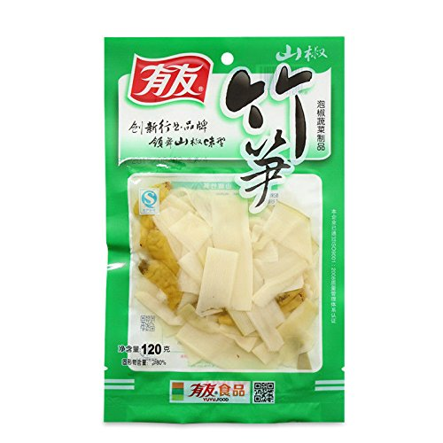 China food co. LTD. 2 pcs X 120g Chinese food Mountain spicy taste bamboo shoots