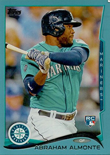 (2014 Topps Blue Border #256 Abraham Almonte Mariners)