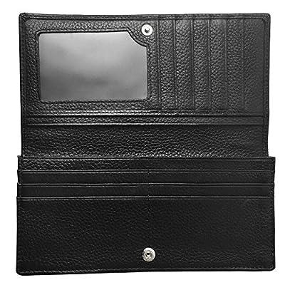 Womens Genuine Leather Bifold RFID Blocking Girls Ladies Wallet Clutch