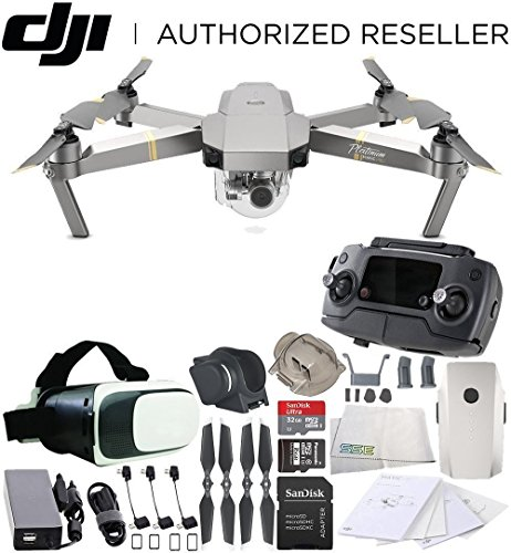 DJI Mavic Pro Platinum Collapsible Quadcopter Virtual Reality Experience VR Starters Bundle Review