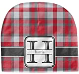 RNK Shops Red & Gray Plaid Baby Hat (Beanie) (Personalized)