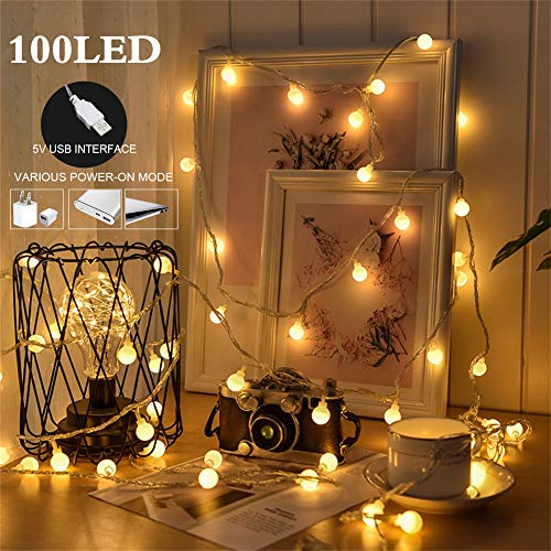 100 Led Globe Christmas Lights in US - 6