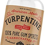 100% Natural Pure Gum Spirits of Turpentine 4 Ounce Bottle