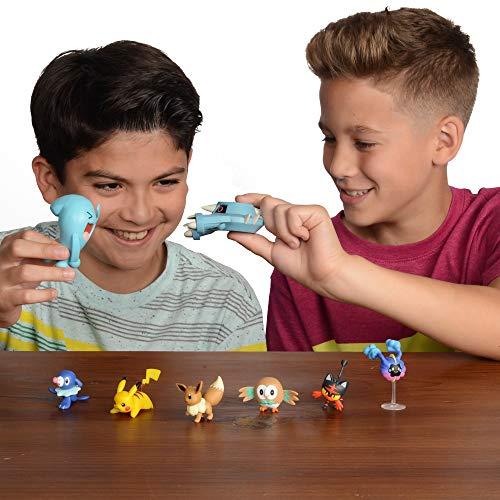 "Pokemon Action Figure Mega Battle Pack - Comes with 2"" Rowlet, 2"" Popplio, 2"" Litten, 2"" Eevee, 2"" Pikachu, 2"" Cosmog, 3"" Metang, and 3"" Wobbuffet"