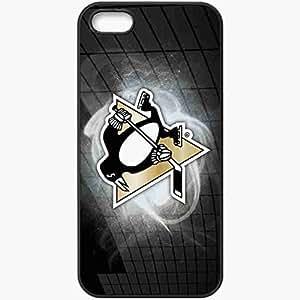 Personalized iPhone 5 5S Cell phone Case/Cover Skin Sport NHL Hockey Black Kimberly Kurzendoerfer