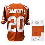 c94888cae Earl Campbell Signed Brown Throwback Custom Football Jersey w/HT'77
