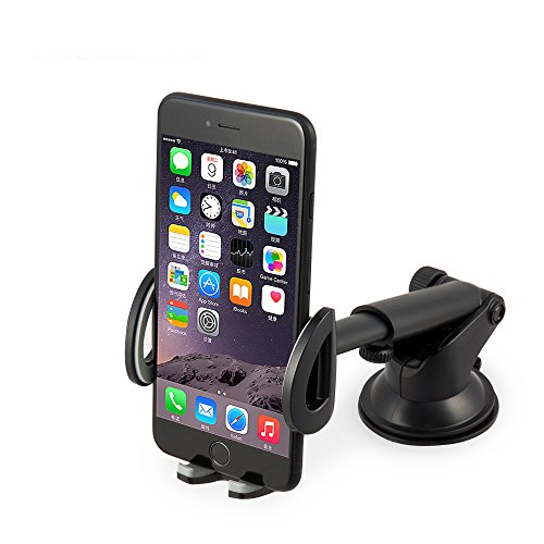 (Chesmart Car phone Mount Holder,Cradles Universal Windshield & Dashboard Car Phone Holder with Flexible Support iPhone, Samsung Galaxyand All phones 3.5