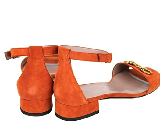 166b64a2c Amazon.com: Gucci Women's Rust Suede Horsebit Sandal with Ankle Strap 338960  6419 (38 IT / 8 US): Shoes