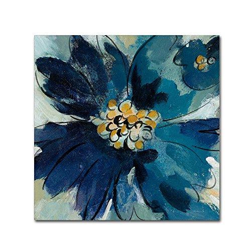 Trademark Fine Art Inky Floral III by Silvia Vassileva, 18x18-Inch Canvas Wall Art