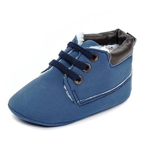 Estamico infantil niños 'high-top botas sintética zapatillas rosa rosa Talla:6-12 meses Azul