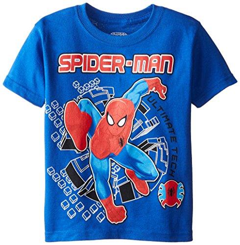 Marvel Little Boys' Spiderman T-Shirt, Royal, 4