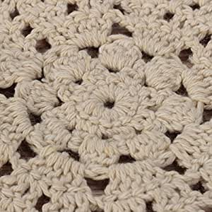 Handmade Floral Crocheted Cotton Round Lace Doily Cup Mat Coaster