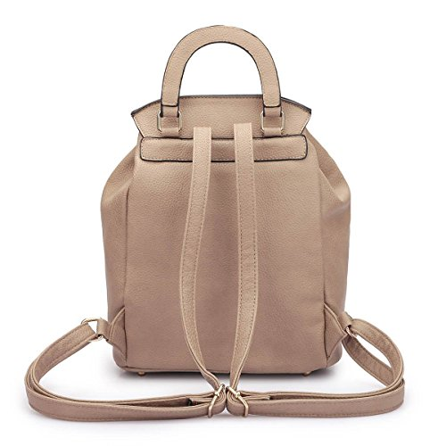 College Shoulder Casual MKY blue Leather Faux Backpack Fashion 2716 Women Daypack Drawstring Classic Bag pvqqw5RTxn
