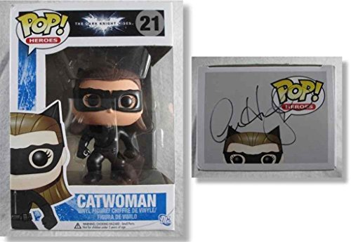 - Anne Hathaway Dark Night Catwoman Autographed Signed Funko Pop Doll COA - PSA/DNA Certified