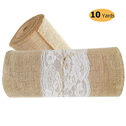 - Stylish14 Burlap Table Runner with Lace 12