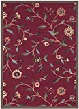 Ottomanson Ottohome Collection Floral Garden Design