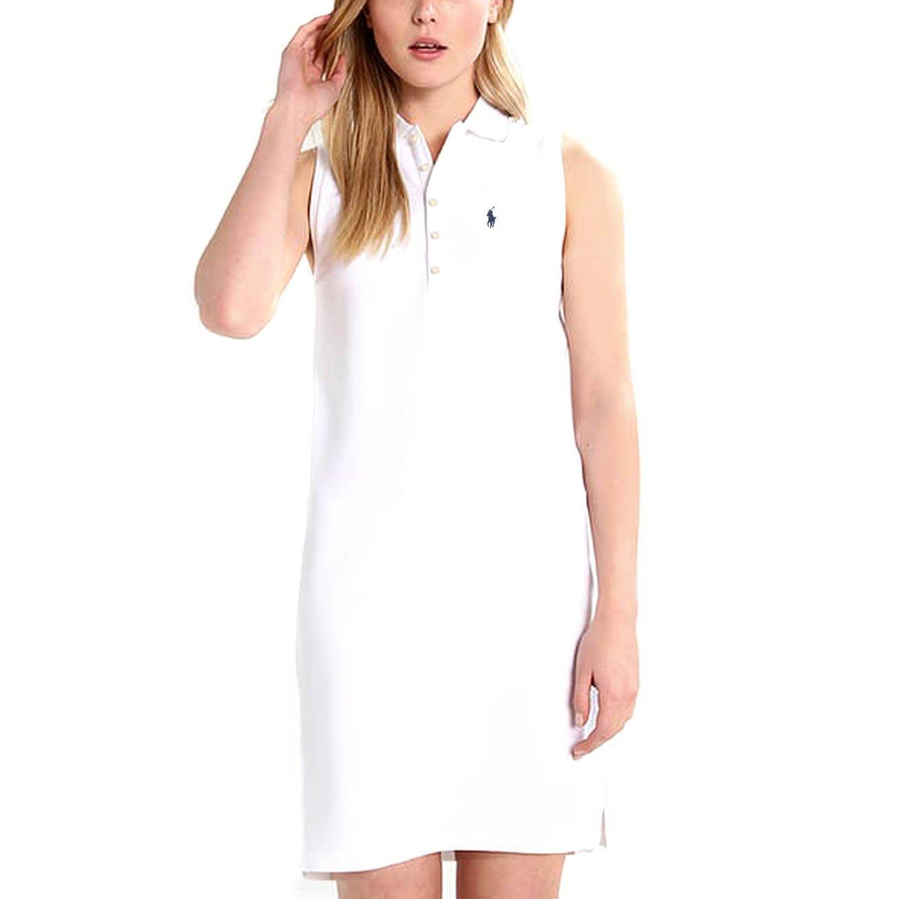 12b0470cef Ralph Lauren New Genuine Womens Stretch Mesh Polo Dress - White ...