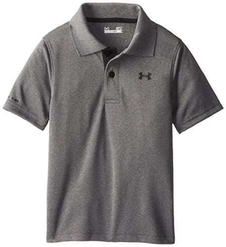 Under Armour Toddler Boys' Ua Logo Short Sleeve Polo, Carbon Heather Gray, 4T