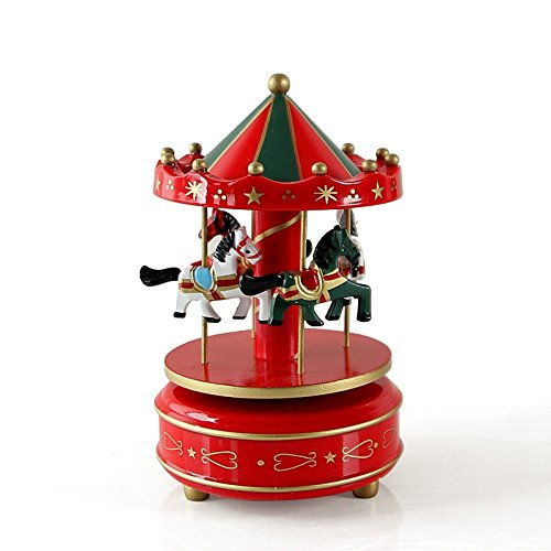 Lighted Outdoor Christmas Carousel