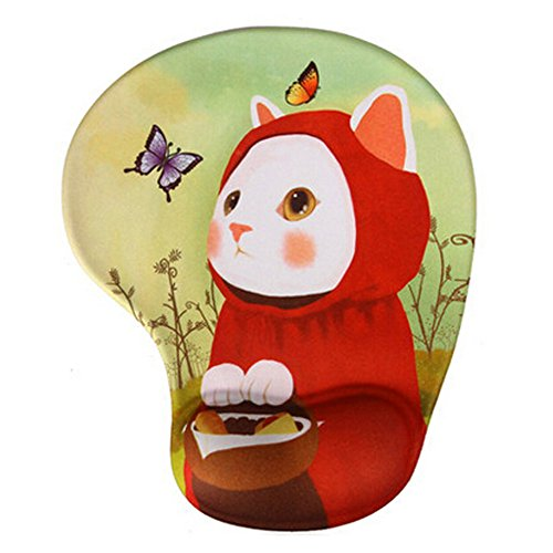 Price comparison product image Cartoon Silicone Lycra Fabric Mouse Pad Computing Wrist Rest, Cat