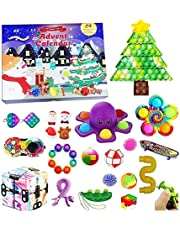 Advent Calendar 2021 Toy, Abenow 24Pcs Fidget Advent Calendar 2021 Kids Holiday Christmas Countdown Calendar